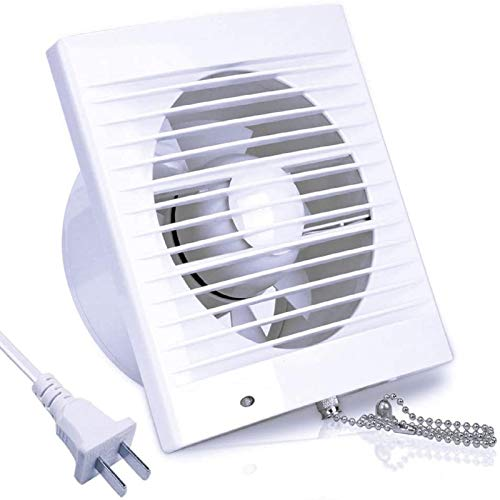SAILFLO 4 Inch Wall-Mounted Exhaust Fan, 12W 130m³/h Ventilation Extractor with Anti-backflow Check Valve Chain Switch for Window Duct Glass Grow Tent Bathroom Vents - 6