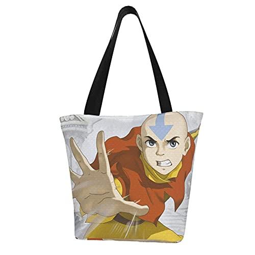 Jupsero Anime Avatar Last Airbender bolso de mano para mujer bolsos de lona bolsos de hombro casuales para mujer bolso de compras