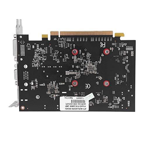 Molyflower Nueva Tarjeta gráfica de Video R7 350 2GB GDDR5 de 128 bits para Juegos Independientes con un Ventilador - Negro