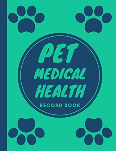 Pet Medical Health Record Book: Pet Vaccine Track Journal Notebook | Puppy Vaccination Shot Organizer Card | Veterinary Immunization Schedule | Pet Vaccination Log Book