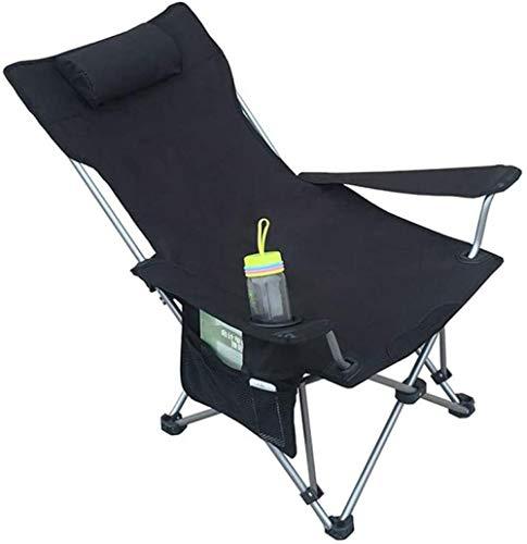 YYZZ Chaise de Camping ultralégère: Enfant Adulte Backpacker Heavy Duty 264,5 LB Capacité Pliable Pliable Portable Léger Compact-Noir