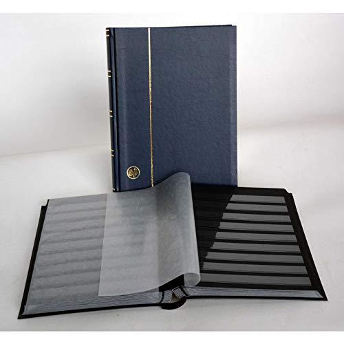 GOLDHAHN-Luxus-60 Schwarze Seiten A4 Briefmarkenalbum Einsteckbuch Briefmarken für Sammler