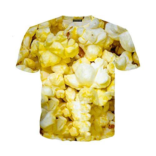Camiseta de Palomitas de maíz de Verano para Hombres y Mujeres, Sudadera de maíz con Estampado 3D, Ropa de Calle de Manga Corta, pulóver 11 Asia 4XL