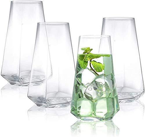 Copas de cóctel, Conjunto de gafas de botellas de botellas de licor Conjunto de copas de cócteles de 4,18 oz, conjunto de bebidas de cristal, conjunto de regalo de cristal de cristal premium Whisky