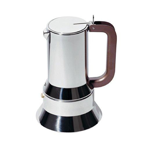 Alessi 9090/6 Caffettiera Espresso In Acciaio Inossidabile 18/10 Lucido, 6 Tazze