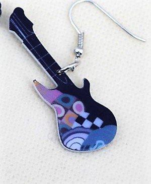 Lindo Guitars acrílico earrings-1par azul