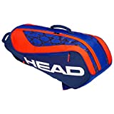 HEAD Tête Kids 'Junior Combi Rebel Sac de Raquette de Tennis, Bleu/Orange, Taille...