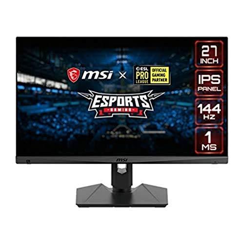 """MSI Optix MAG274R Monitor Gaming 27"""", Display 16:9 Full HD (1920x1080), Frequenza 144Hz, Tempo di risposta 1ms, Pannello IPS, Mystic Light RGB (Versione Italiana 3 anni di garanzia)"""