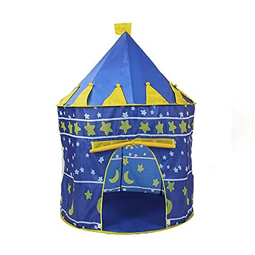 FDYZS Portátil Mini Tent Indoor Padres-Child Camping Casa Casa Bebé Portátil Portátil Agua Ligera Resistente a Familia Picnic Garden,Azul