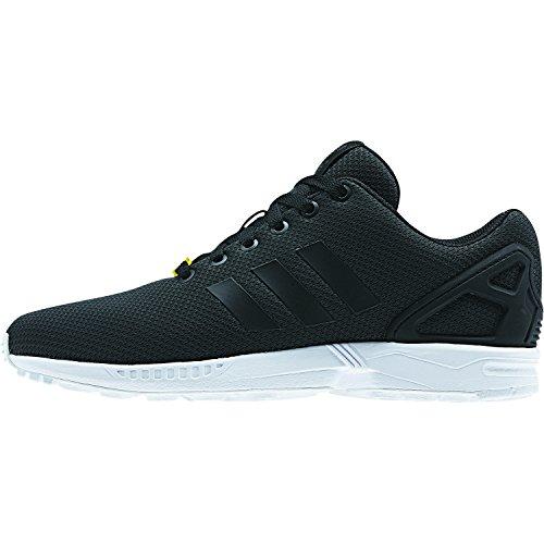 adidas ZX Flux, Unisex-Erwachsene Sneakers, Schwarz (Black/Black/White), 44 2/3 EU