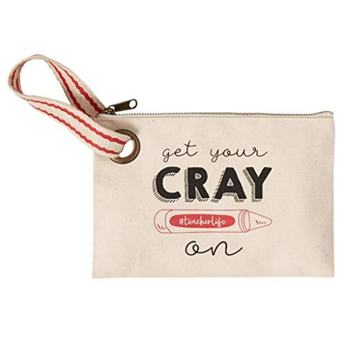 Mud Pie Cray-On Grommeted Wristlet Pouch, Gray
