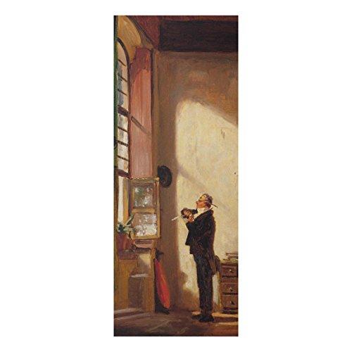 Bilderwelten Glasbild Wandbild Carl Spitzweg - Der Schreiber 100 cm x 40 cm
