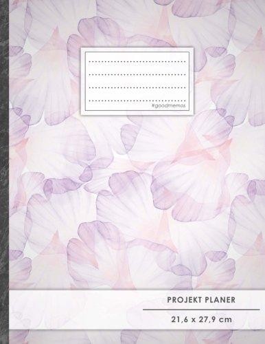 """PROJEKTPLANER A4 • 70+ Seiten, Soft Cover, Register, \""""Pastell Blumen\"""" • #GoodMemos • Linke Seite für Planung (To Do Listen, Datum uvm.); Rechte Seite für Notizen"""