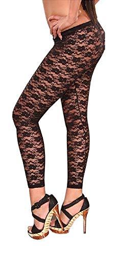 Leggings de niña sexy - legging - pantalones - leggings - fuseaux - mujer - niña - encaje - transparente - flores - moda - idea de regalo - steampunk - retro - oscuro - gótico