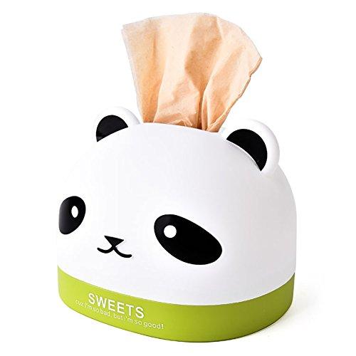 Funie Aufbewahrungsbox für Taschentücher, Panda-Kopf, Anti-Staub-Tücher, Aufbewahrungsbox für Zuhause, Dekoration, Rosenrot OneSize grün