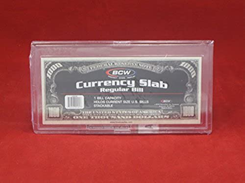 US W ung Papier Geld Bill Displayschutzfolie Platte Halterung für regelm gen Rechnungen von BCW