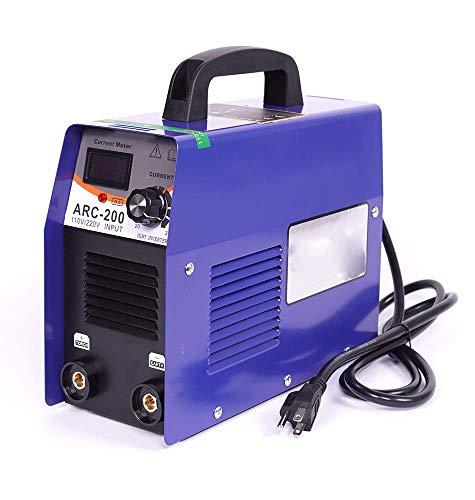 GOHHK Schweißgeräte, tragbare Schweißinvertermaschine, ARC-200 110V / 220V Doppelspannungs-Kleinwechselrichter-Schweißmaschine Lichtbogenschweißmaschine