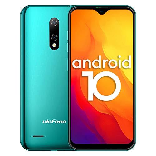 4G Handys Günstig, Ulefone Note 8P Smartphone Dual SIM 5,5-Zoll-Wassertropfenbildschirm 16 GB ROM 3-in1-Steckplatz 8MP + 2MP + 5MP Dreifachkameras Gesichtserkennung GPS Android 10 (Grün)