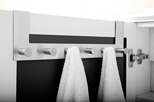 Ambrosya® | Exclusivo toallero de acero inoxidable | Cuarto de baño Soporte de gancho Toalla Puerta de la barra Felpudo (Acero inoxidable (Cepillado))
