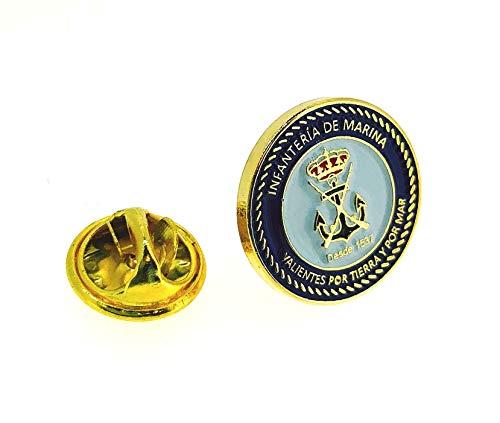 Gemelolandia | Pin de Solapa Infantería de Marina Valientes por Tierra y por Mar | Pines Originales y Baratos Para Regalar | Para las Camisas, la Ropa o para tu Mochila | Detalles Divertidos