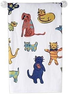 BigKitchen Saturday Night Limited Cotton Silhouette Wildlife Tip Towel Set of 4