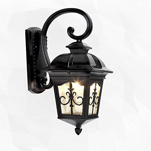 Vintage wandlamp buitenlantaarn LED wandlamp up wandlantaarn enkele kop industrieel glas creatief retro metaal wandlamp tuinverlichting verlichting decoreren wandlamp afdekking (maat: L)