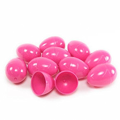 24 Pink Empty Easter Eggs Vending, Crafts, Etc, by Discount Party and Novelty