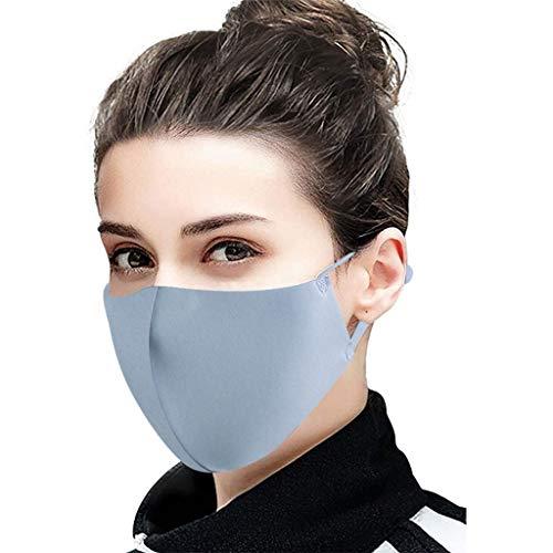 Auifor Outdoor bequem Baumwoll Schutz, staubdicht Winddicht waschbar Wiederverwendbar Schutz Tool 3PCS Unisex(Grau,3PC)