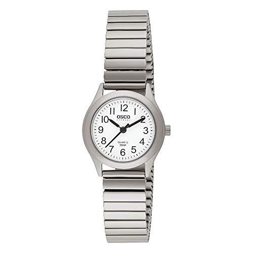 OSCO Titan Damen Zugband-Uhr Weiß Titan-Flexband 04103031