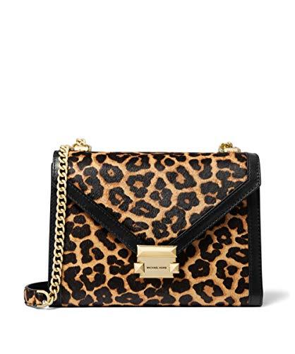 MICHAEL Michael Kors Da Donna whitney grande leopardo stampa vitello borsa spalla Marrone Unica Taglia