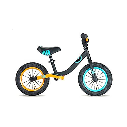 MIAOYO 12 Pulgadas Equilibrar Bicicletas Deslizantes,Bebé Dos-Ruedas Bicicleta Infantil Sin Pedales,Escuela Primaria Niños's Scooter con Equipo De Protección,Naranja,12'