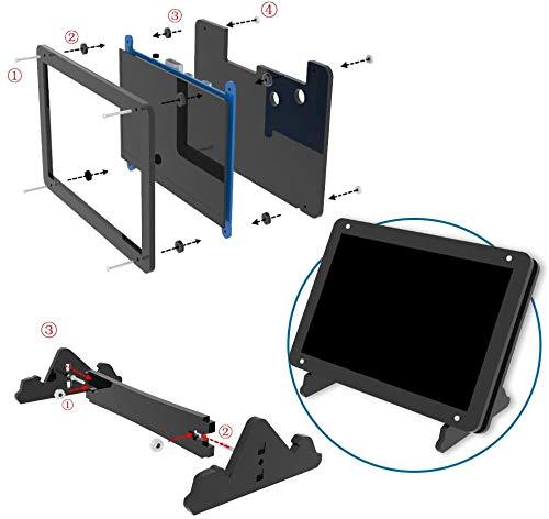 Custodia in acrilico per schermo Raspberry Pi da 5 pollici, supporto fisso (nero)
