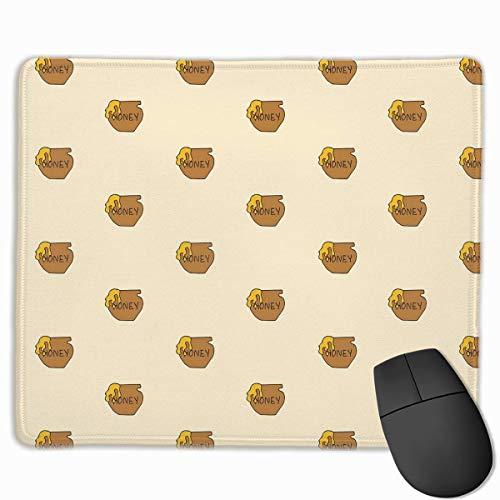 Topf Honig rutschfeste Gummi Mausmatte Mauspad für Desktops, Computer, PC und Laptops 30x25 cm