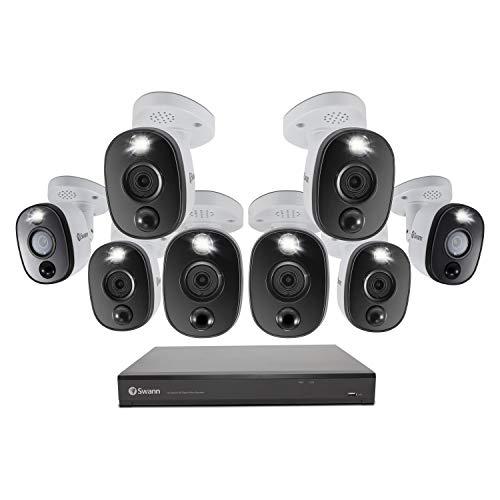 Affordable Swann 16 Channel 8 Camera DVR Security System, Wired Surveillance 4K HD DVR-5580 + 2TB HD...