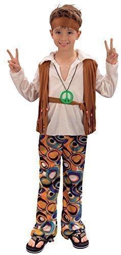 Ragazzi 4 Pezzi 1960s 1970s Hippie Festival Costume Travestimento 4-14 Anni - 7-9 Years