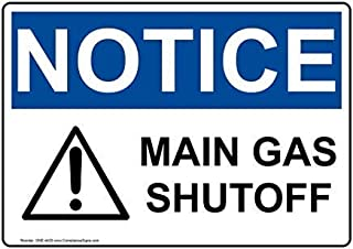 Ohuu OSHA Notice Sign,Iron Metal Warning Signs Funny,Private Sign,Notice Sign for Gate,8