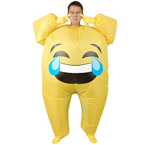 LOLANTA Disfraz de Emoji Inflable Unisex para Adultos Disfraz de ...