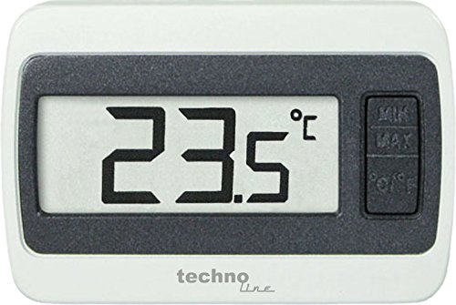 Technoline WS 7002 Thermometer, digital, Min/Max Temperaturanzeige, weiß, 6,0 x 1,4 x 4,0 cm
