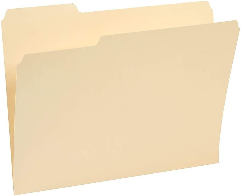 Staples 221689 3-Tab File Quality inspection Memphis Mall Folders Assorted Manil Position Letter