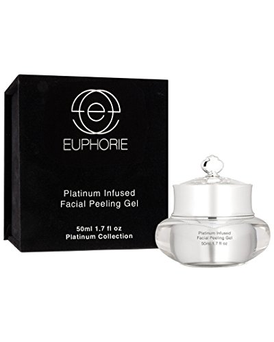 EUPHORIE Chemical Peel Treatment, Platinum Infused Facial Peeling Gel for Face and Skin, Exfoliates, Anti Wrinkle, Remo