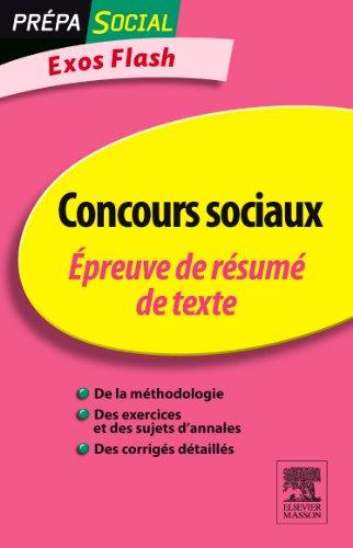 Flash Concours Sociaux Epreuve De Resume De Texte