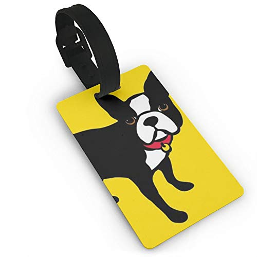 Travel Bags Tags,Boston Terrier And French Bulldog Luggage Tags For Suitcases,Luggage Tags Set With Name Id Card