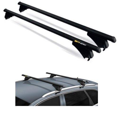para Kia Carens 2015 Techo para Coche 135 cm Bar para Coche con relé no Completo en el Techo Fijo de Aluminio Apto Negro
