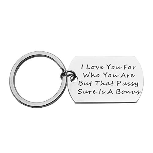 Beeshion Gay Couple Gifts Funny Dog Tag Keychain Lesbian Gift Funny Lesbian Girlfriend Gift