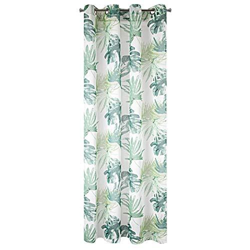 cortinas habitacion hojas tropicales
