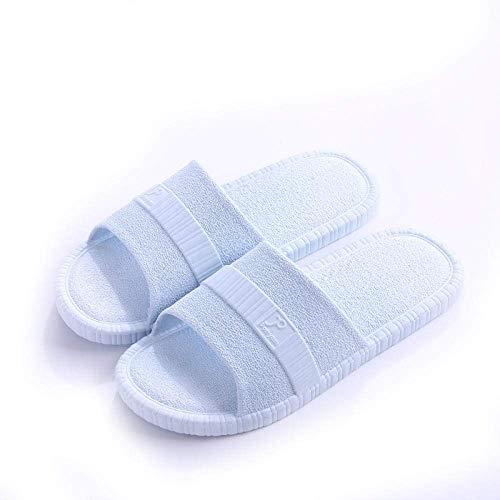 CCJW Sandalias de ducha antideslizantes para casa, para casa o casa antideslizantes, sandalias de baño de masaje, sandalias de baño de color azul claro, 44-45, sandalias antideslizantes para casa kshu