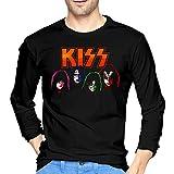 ブルームン Tシャツ 長袖 Kiss キッス トレーナー シャツ 上着 ファッション カットソー Xl Black 綿 メンズ レディース