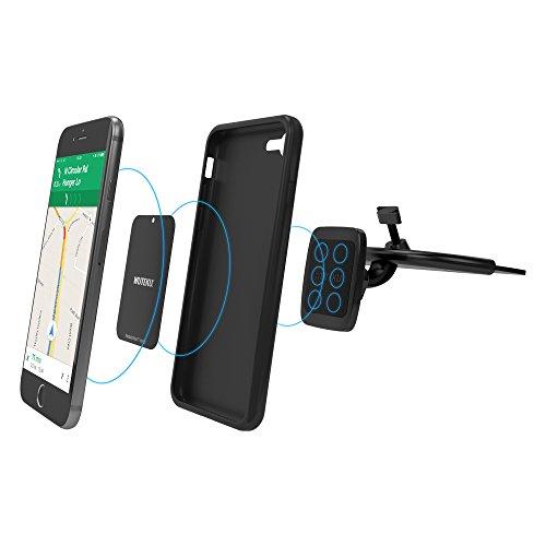 Wuteku Kit supporto magnetico del telefono cellulare per auto | Funziona su tutti i veicoli, telefoni e tablet | Miglior CD Mount Player | iPhone X, 8, 7 e Galaxy S9, S8 | Più votati dai Uber driver