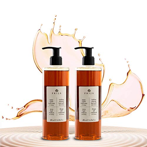 Prija Flüssigseife mit Ginseng 2x 380ml Flakon Seife Soap Wellness