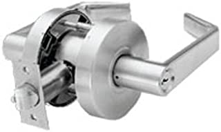 Arrow Lock RL-Series Standard Cold Rolled Steel Satin Chromium Plated Storeroom Schlage C Keyway Cylindrical Lock with Sierra SR Lever, 1-3/4